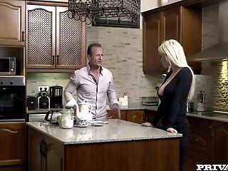 Horny Housewife Sienna Day Fucks Two Boys In The Kitchen
