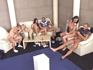 Sweet Katrin Wolf And Other Ladies Get To Please More Guys At Once