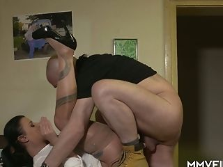 Matures Dark Haired In Glasses Bonny Demon Gives Her Head And Gets Rear End Fucked