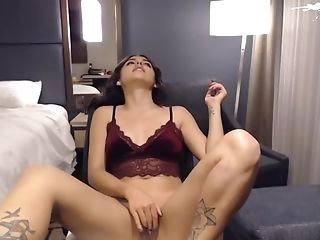 Sexy Oriental School Teenager Disrobing And Masturbating