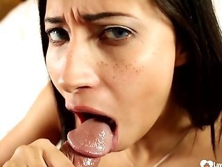 As Briefly As He Whipped Out His Package, She Began Sucking On It Passionately