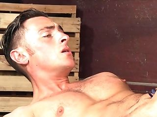 Queer Dude Gets His Dick-squeezing Asshole Stufeed With Playthings In A Sauna