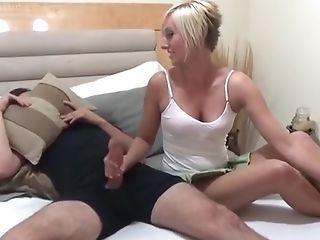 Kate England Helps Stepbro To Jizz