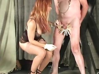 Clothe Pins Cock And Ball Torture