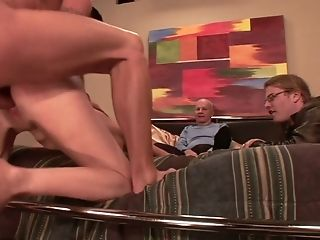 Cheating Spouse Is Watching How Two Dudes Drill Mouth And Twat Of His Whore Wifey Camryn Cross