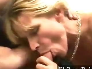 Matures Blonde Sates Youthful Schlong