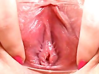 Sultry Teenage Is Wide Open Narrow Twat In Close Up And Spunking