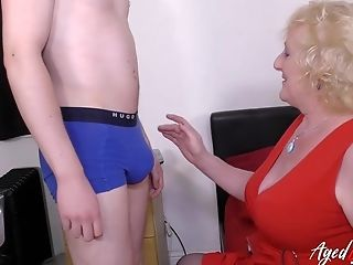 Well Elderly Matures Lady Got Fucked Hard By Handy Youngster Stud