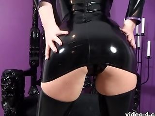 Katie Lou In Black Sundress And Black Stockings - Latexheavenvideo