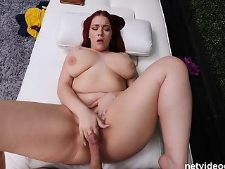 Chubby Blue Eyed Sandy-haired Anne Gives A Oral Job On The Casting Couch