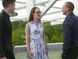 Two Dudes With Massive Lollipops Fucks Both Fuckholes Of Russian Hooker Sasha Sparrow