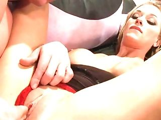 Faux Tits Hump Doll With A Tattoo Getting Fingerblasted Then Throbbed