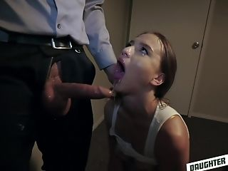 Hard-core 4some With Izzy Lush And Scarlett Mae Guzzling Jizm