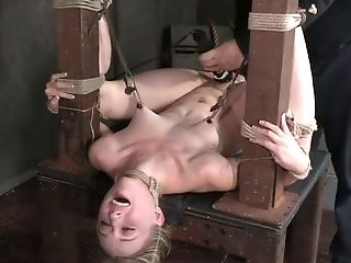 Servant Tied Up With Ropes Pallid Light Haired Chick Is Treated Xxx