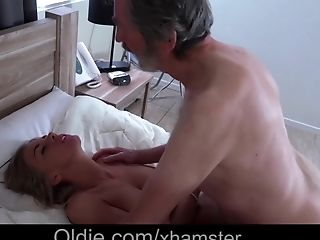 Playful Big Tits Honey Fucking Old Man Meat In The Jizz Flow Douche