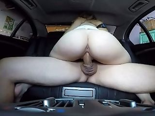 Hot Joy Loving Stunner Is Getting Engaged In A Car For Your Viewing Pleasure