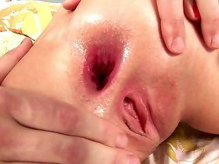 Blonde Fuckslut Mandy Dee Has Her Round Rump Penetrated Deep