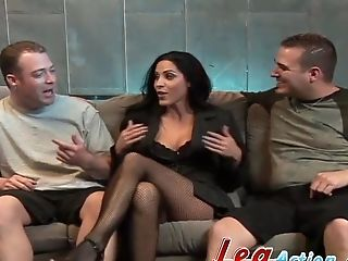 Dual Intrusion Threesome For Big Natural Tits Veronica Rayne