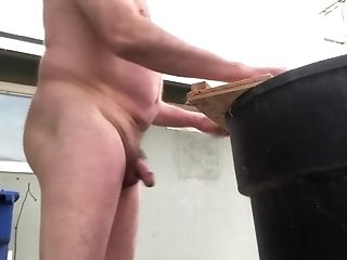 A Naked Advisor Sawing And His Penis Is Bouncing All Around.