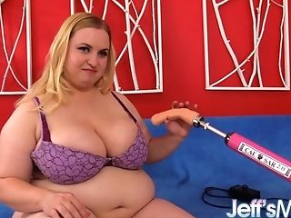 Plus-size Honey Nikky Wilder Gets Her Clean-shaven Muff Plowed By A Sex Machine