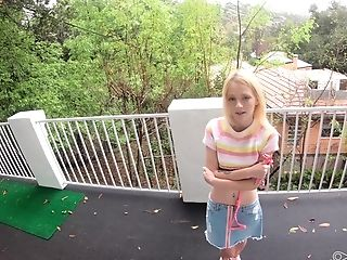 Subjugated Petite Blonde Nubile Kate Bloom Missionary Fucked On A Leash