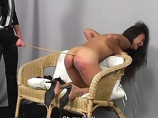 Irresistible Brown-haired Stunner Has To Wail While A Mistress Penalizes Her