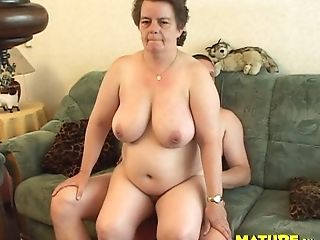 Matures Dame Tits Fondled When Her Gash Is Gobbled On Sofa