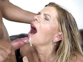 Blonde Cougar Loves Being On Her Knees And Being Banged Like A Dog