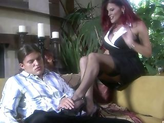 Foot Worship Gonzo Fuck With Ginger-haired Vixen Rebecca Love