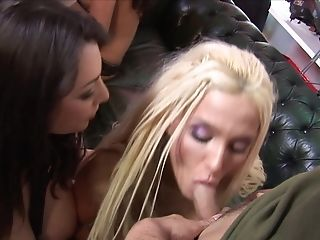 Amy And Hannah Invite Their Friends To A Jizz On Tits Bellies