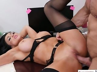 Sizzling Co-employee Audrey Bitoni Is Having Crazy Quickie In The Office