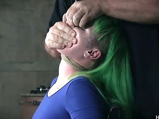 Green Haired Mega-bitch Paige Pierce Gets Tied Like A Hog And Masturbated Hard