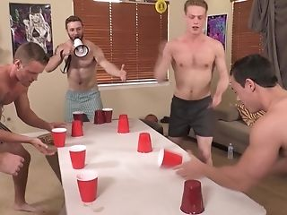 Fag Dude Lost A Game So He Has To Fuck All Of His Roomies