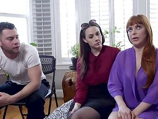 Sex-positive Honeys Chanel Preston And Penny Pax Share A Big Dick While Tied
