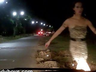 Nikki Transgender Princesses Real Street Flashing Tits