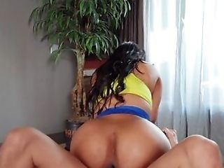 Aryana Adin Explosions Her Chocolate-colored Cunt With The Right Inches