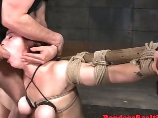 Tiedup Mummy Deepthroating Spunk-pumps In 4 Way