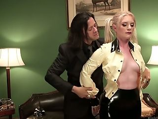 Sex-positive Ponytailed Blonde Dresden Is Railing Sybian Saddle And Stimulates Slit With A Vibro