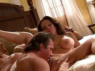Chesty Wifey Spreads Broad For The Guy's Eternal Stiffy